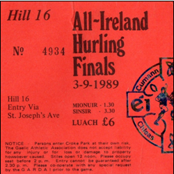 All-Ireland 1989 Final Ticket